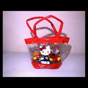 NWOT Hello Kitty Clear Mini Tote bag